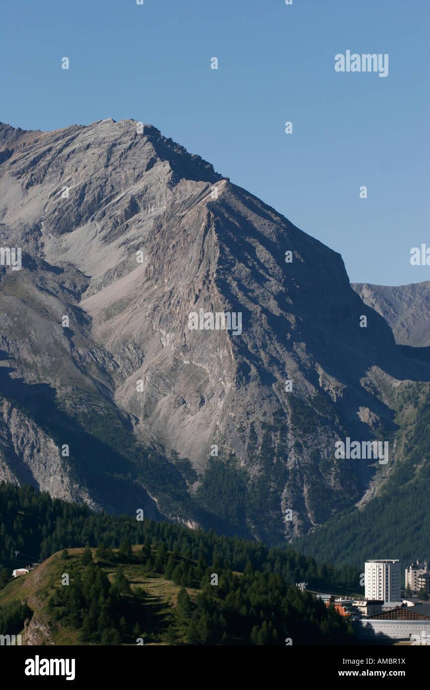 Sestriere and Monte Furgon. Alta Valle Susa, Piemonte, Italy Stock Photo