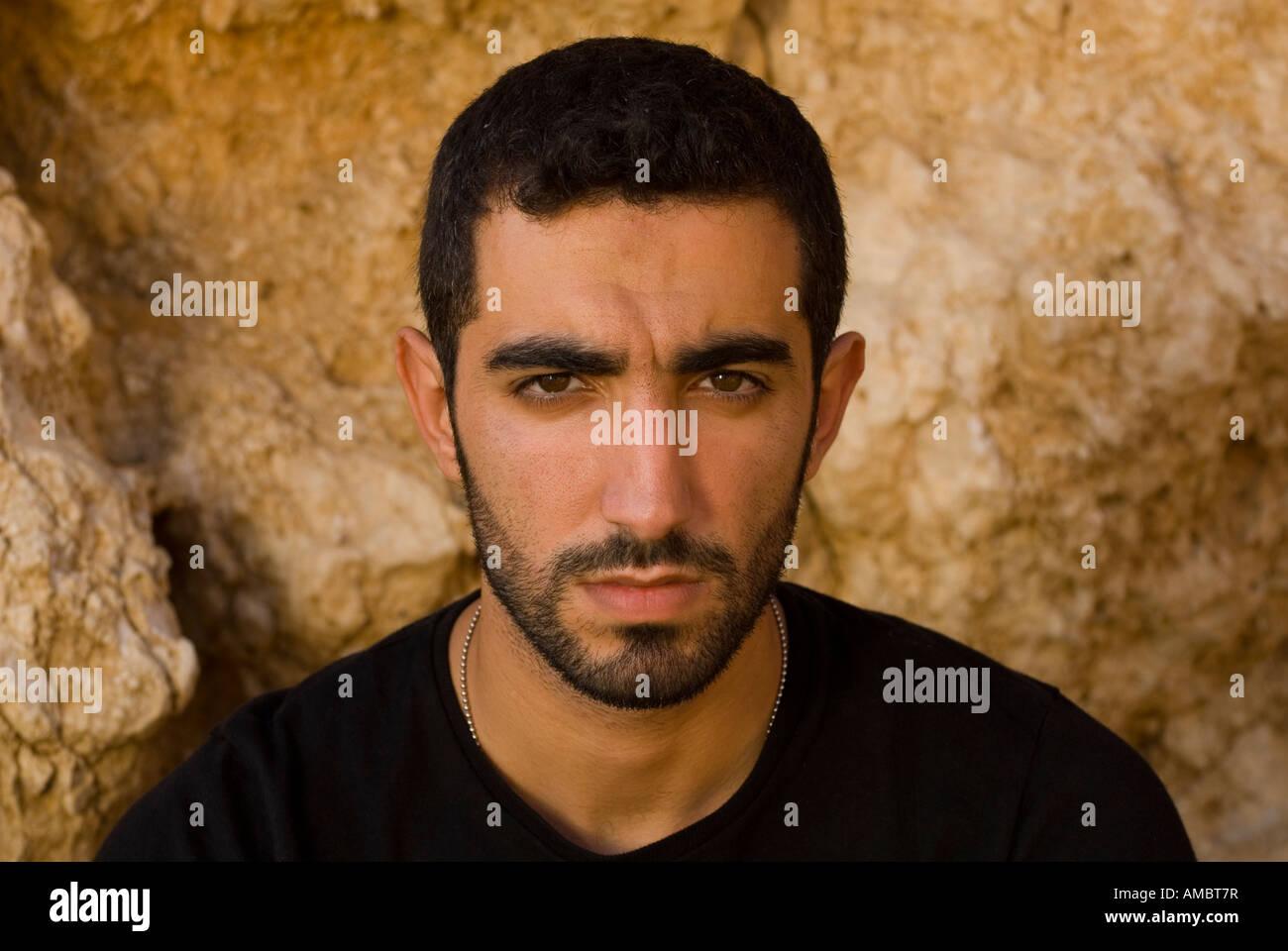 Angry Arabic Man With Beard Stock Photo 15214618 Alamy