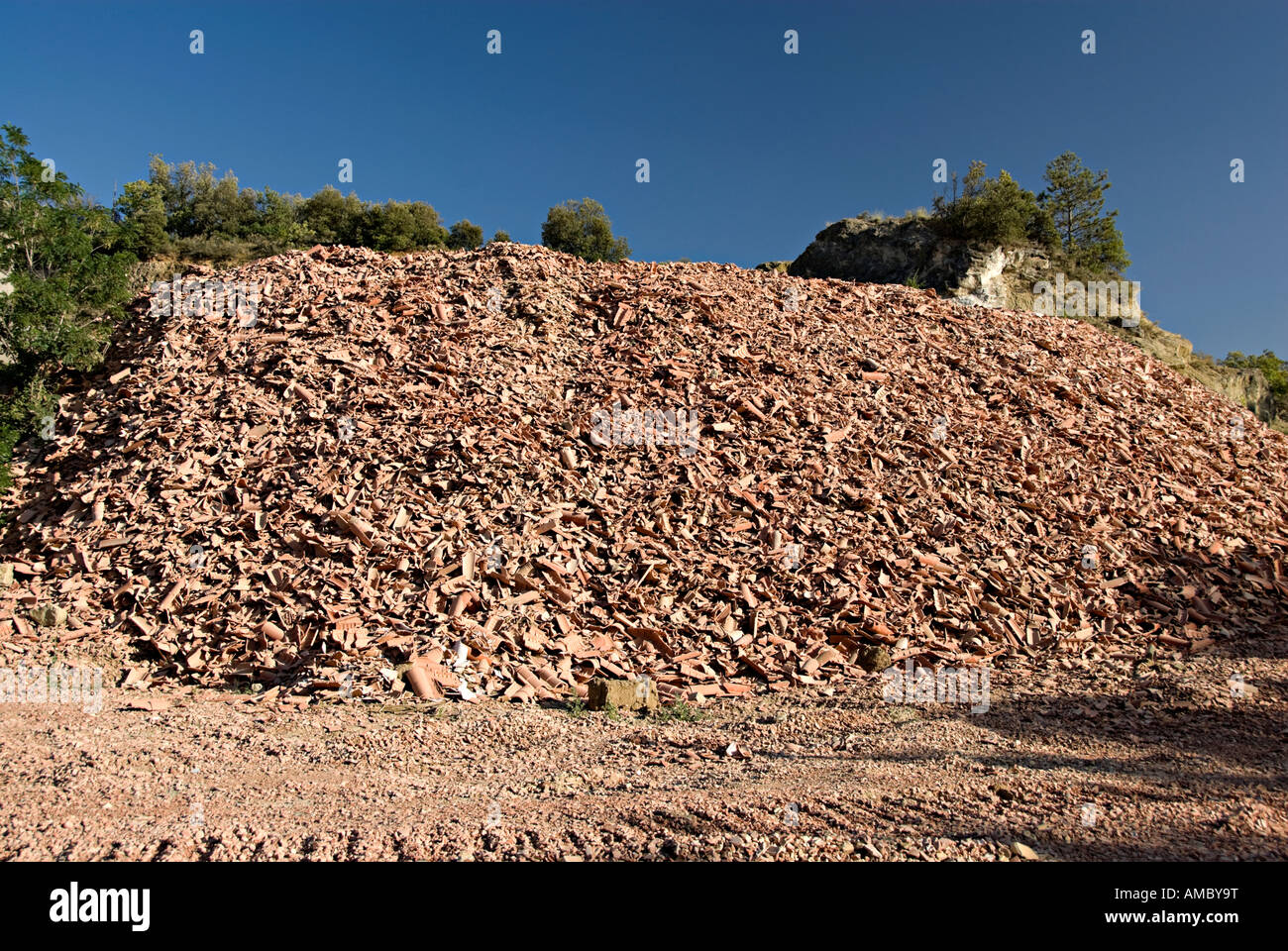 Recycling Of Old Roof Tiles In France Near Limoux With