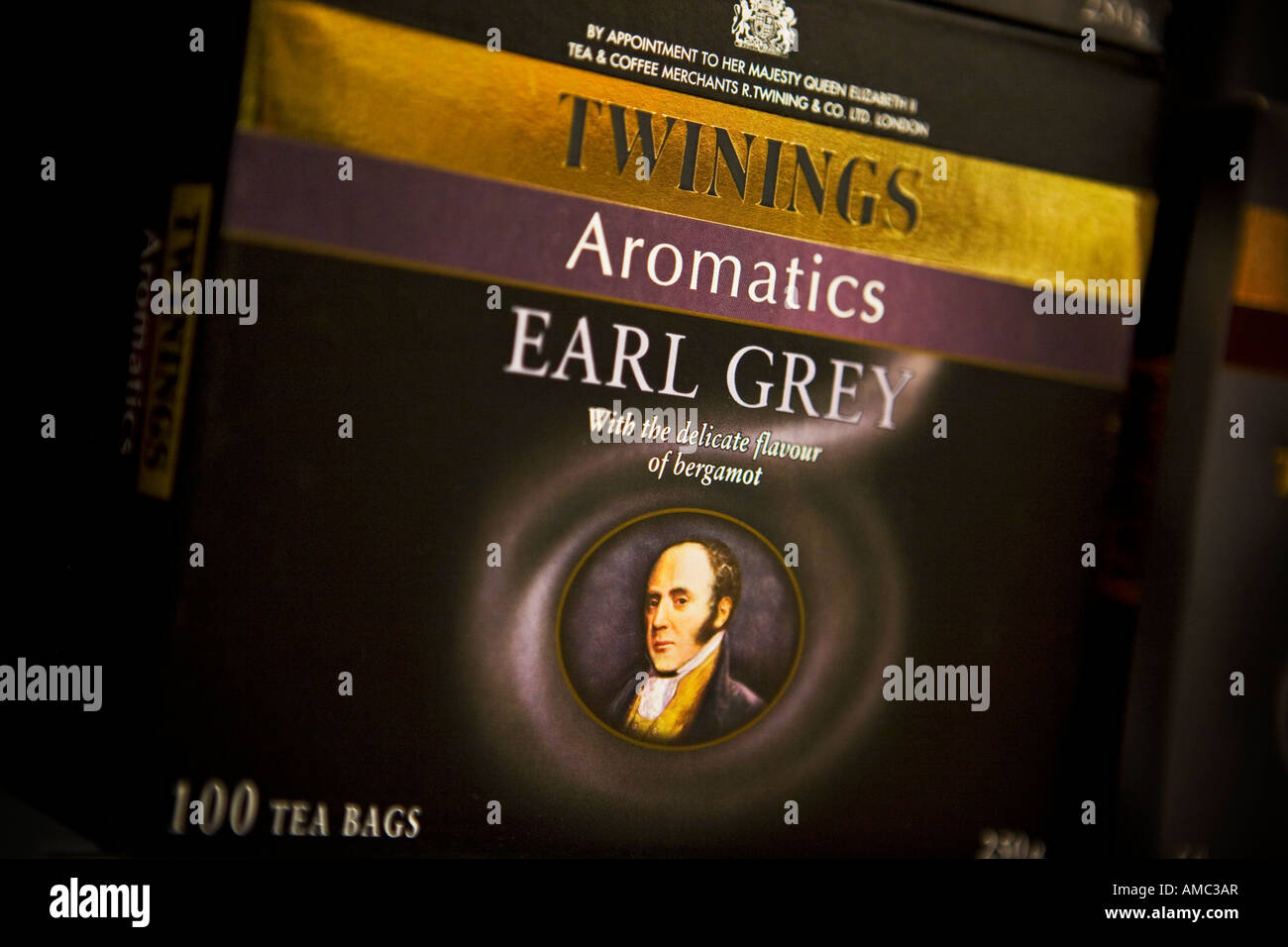 Twinings Earl Grey tea bags Twinings is an Associated British Foods brand - Stock Image