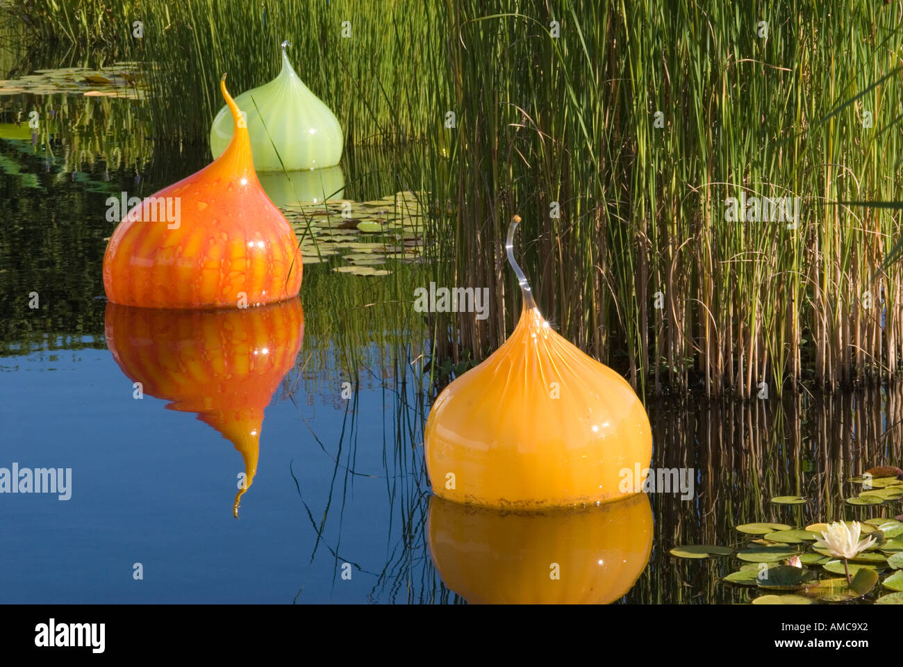 Walla Walla Glass Sculptures By Dale Chihuly At The New York Stock Photo 8696673 Alamy