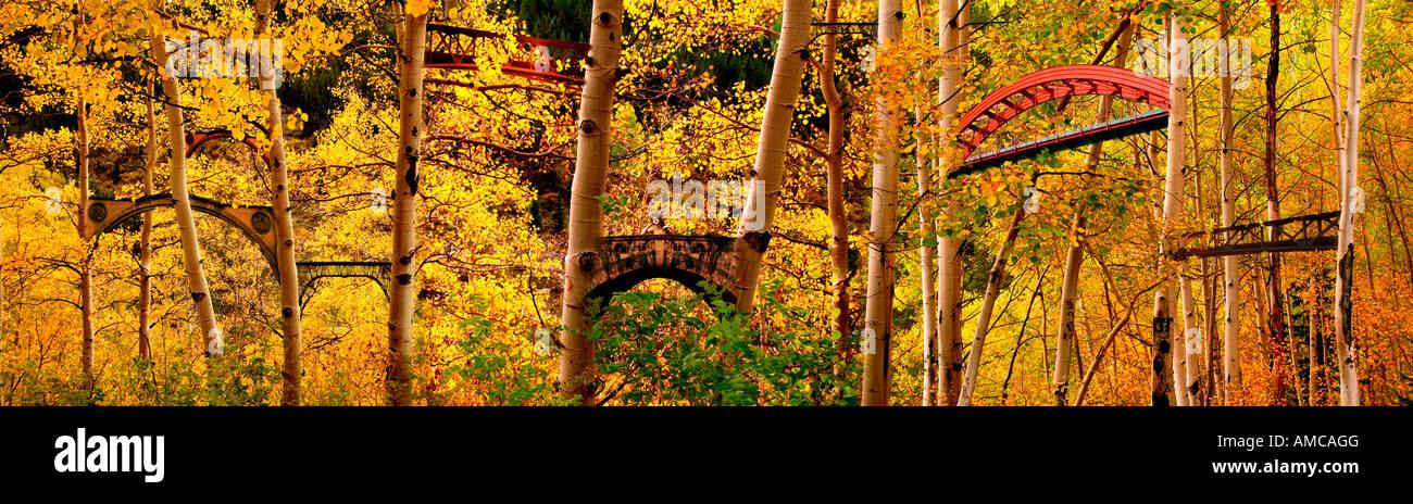 """Meet me at the Bridge"" Surreal photo-digital illustration Stock Photo"