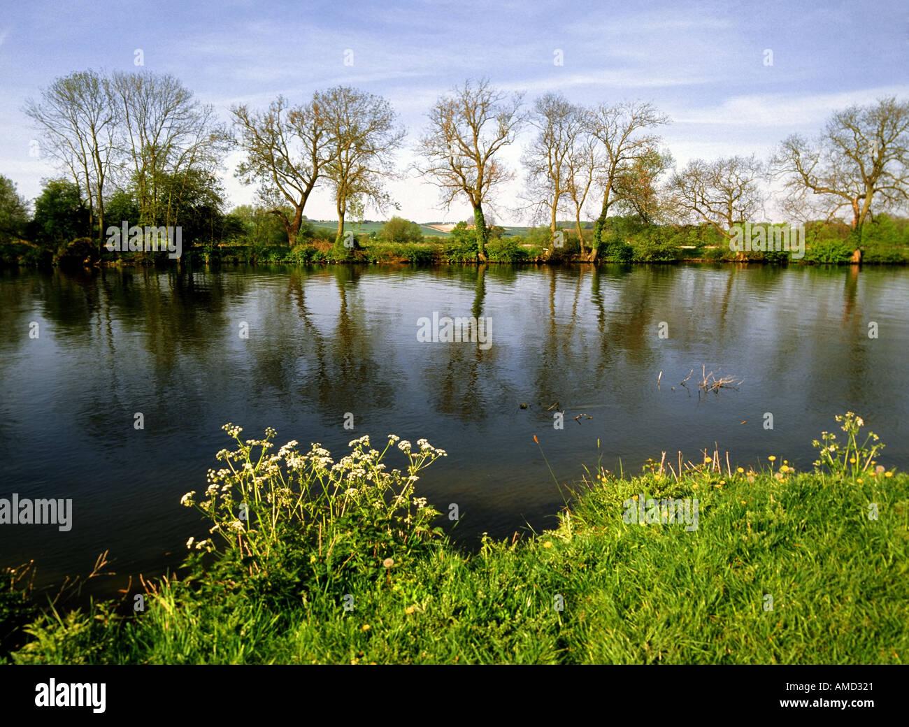 eu europe uk united kingdom great britain england river thames medmenham oxfordshire Stock Photo