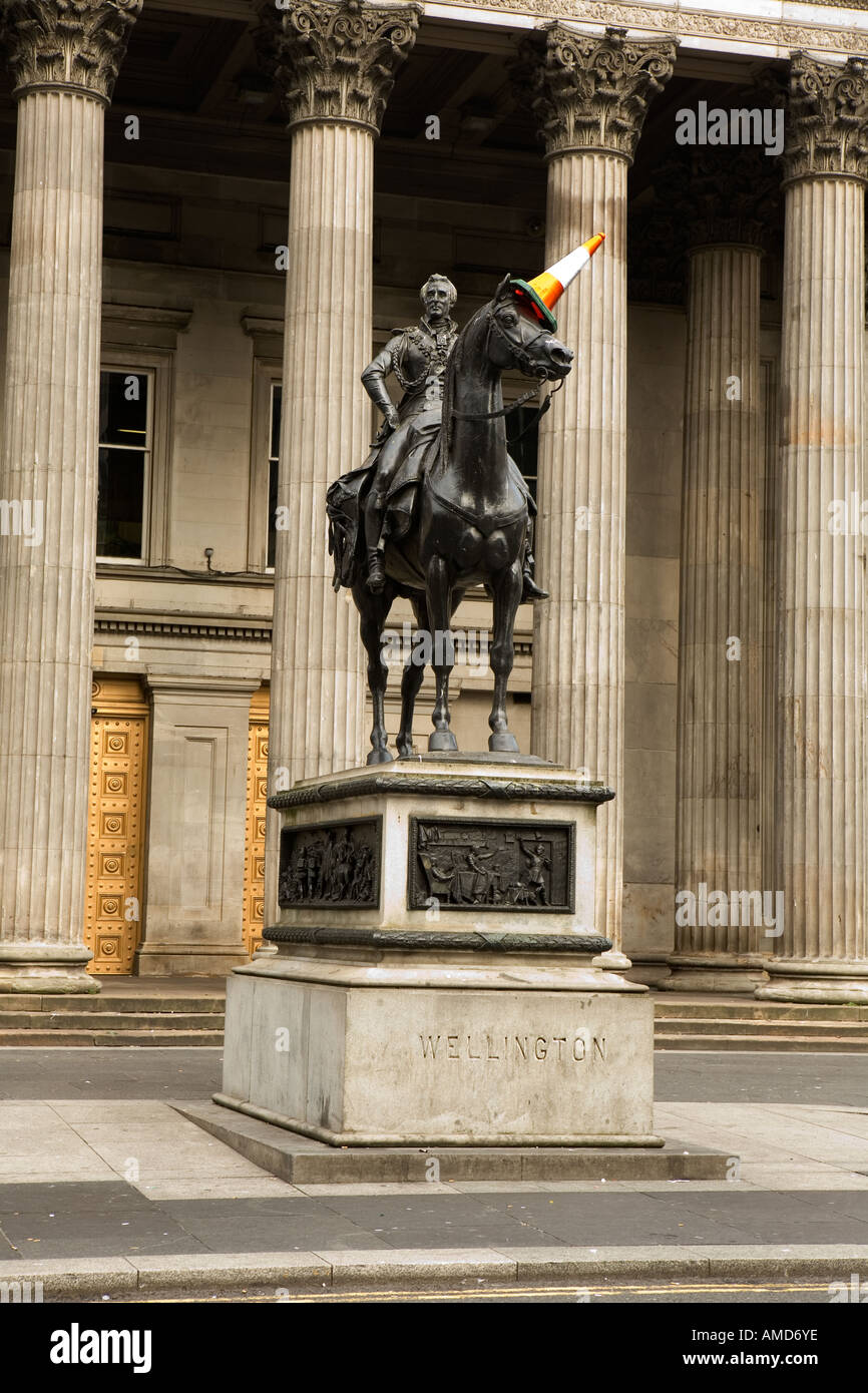 Statue of Duke of Wellington in Glasgow - Stock Image