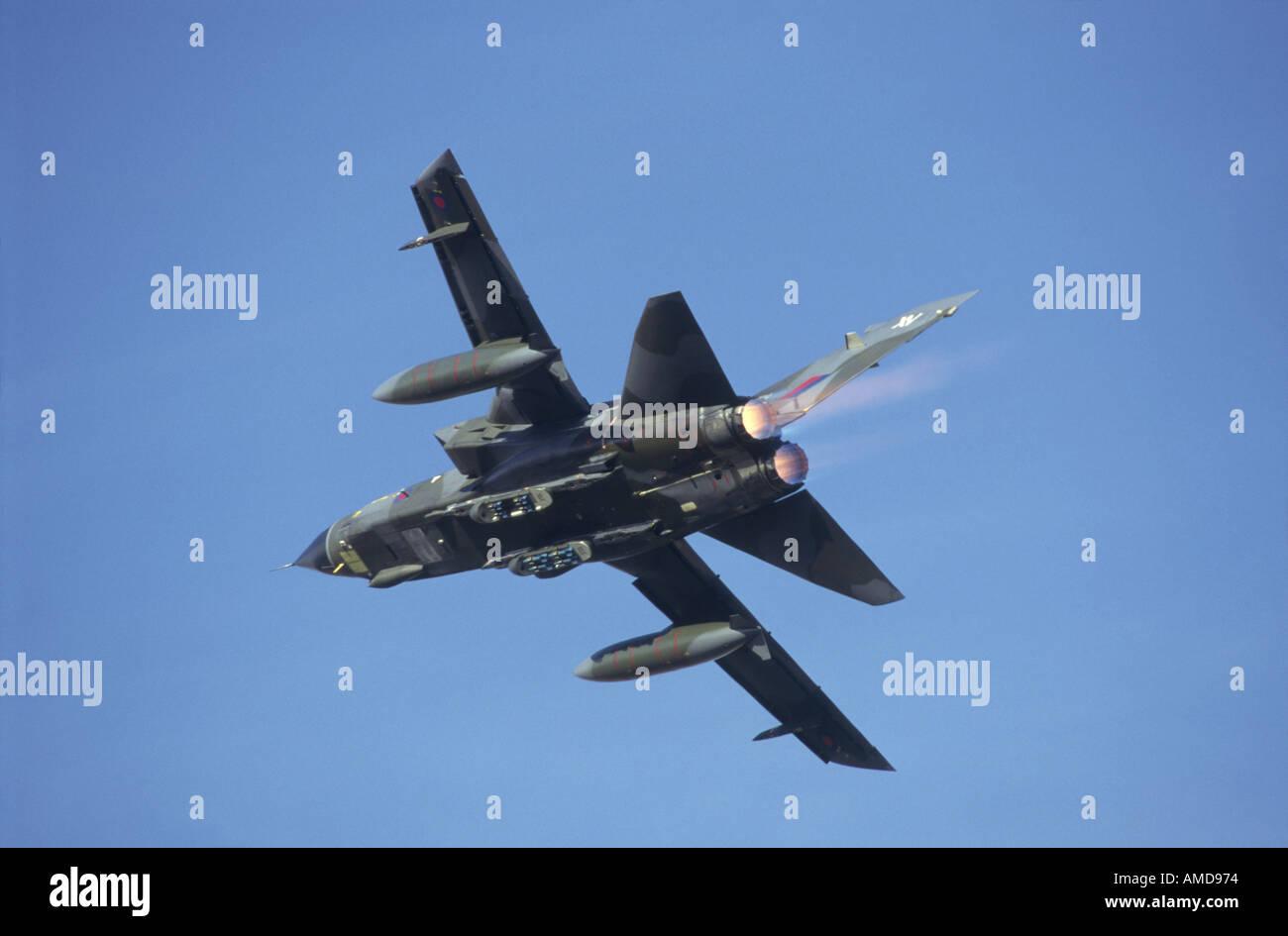 Panavia Tornado GR4 overhead on full reheat GAV 1014 - Stock Image