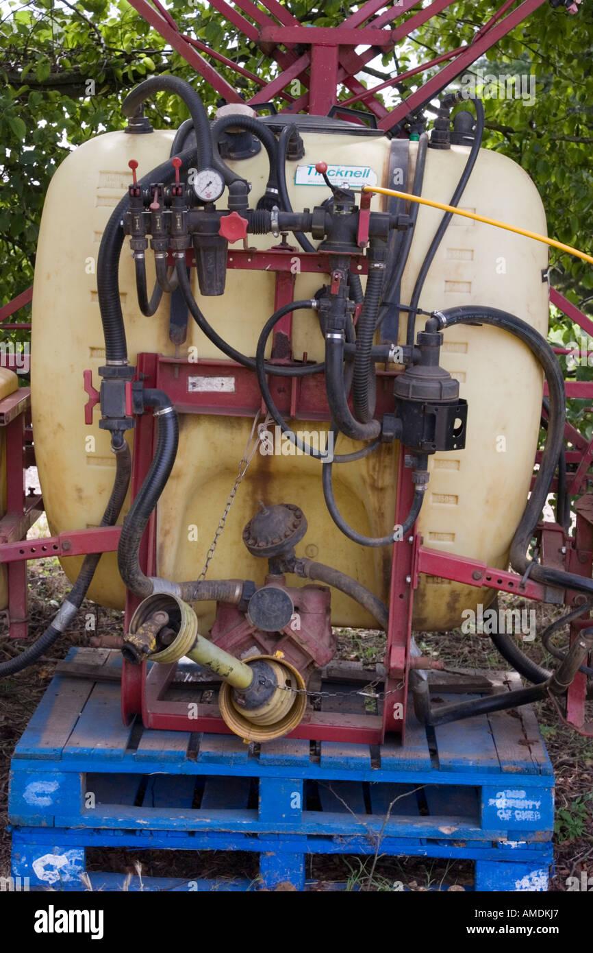 Chemical spraying equipment at market garden - Stock Image