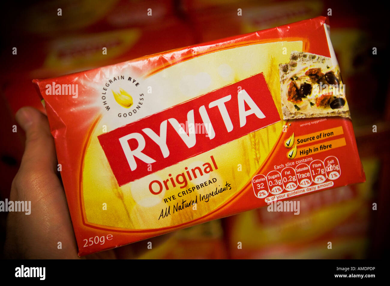 Ryvita rye crispbreads Ryvita is an Associated British Foods brand Stock Photo
