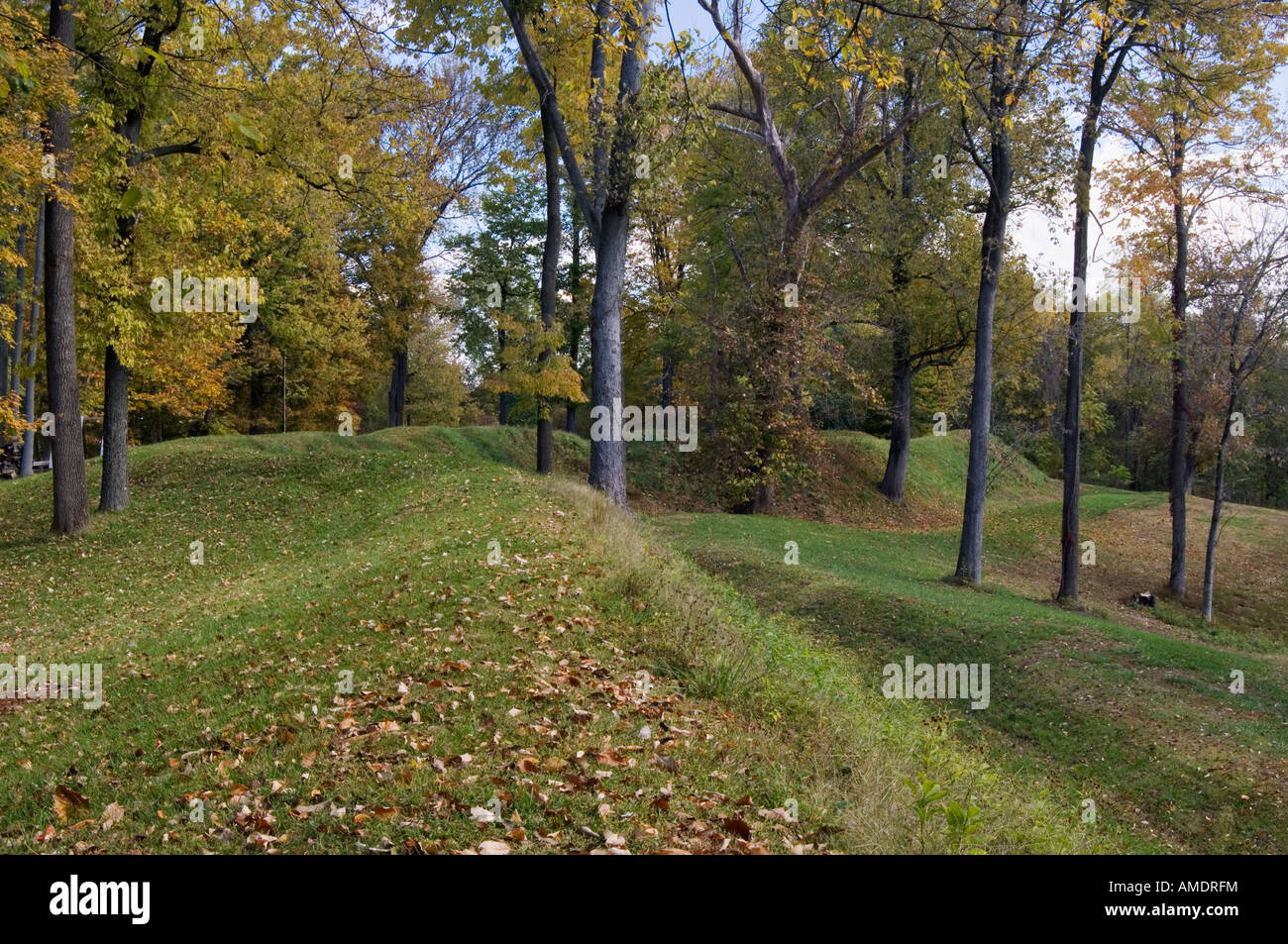 Earthwork Defensive Walls of Fort Duffield West Point Kentucky - Stock Image