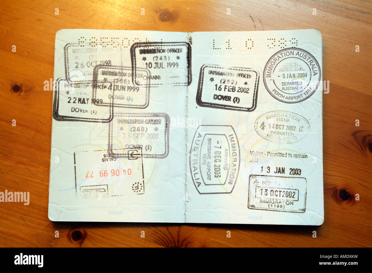Australian Passport With Immigration Stamps