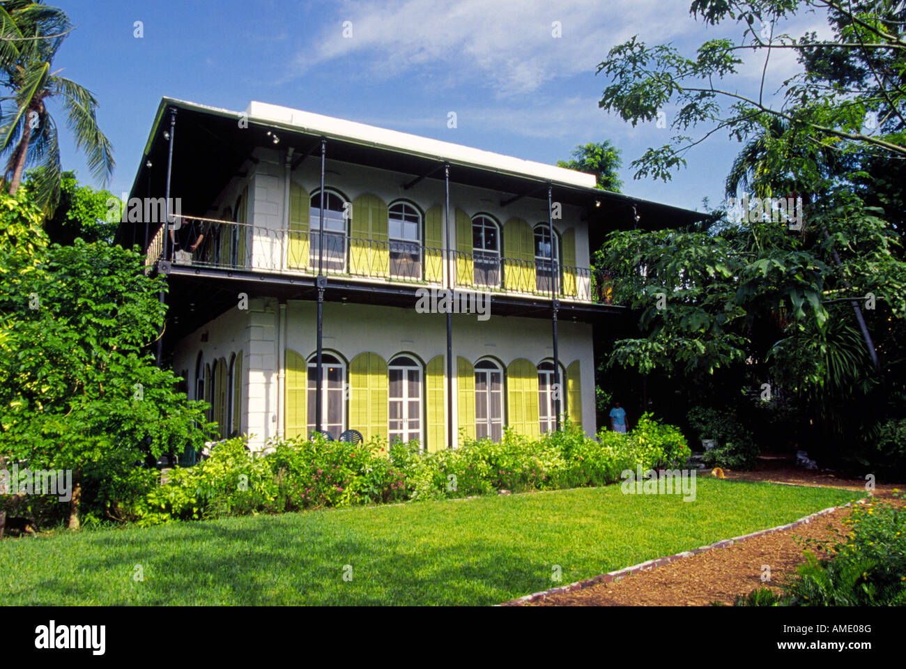 USA FLORIDA FLORIDA KEYS A view of the grounds and the Ernest Hemingway Home in Key West Florida Stock Photo