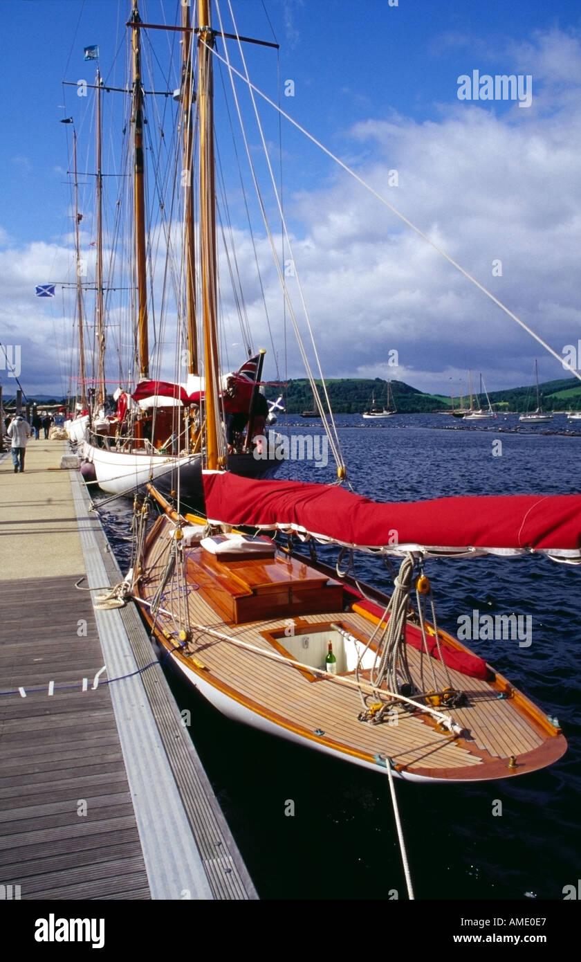 small Fife yacht Seabird Rhu marina gareloch Scotland Europe - Stock Image