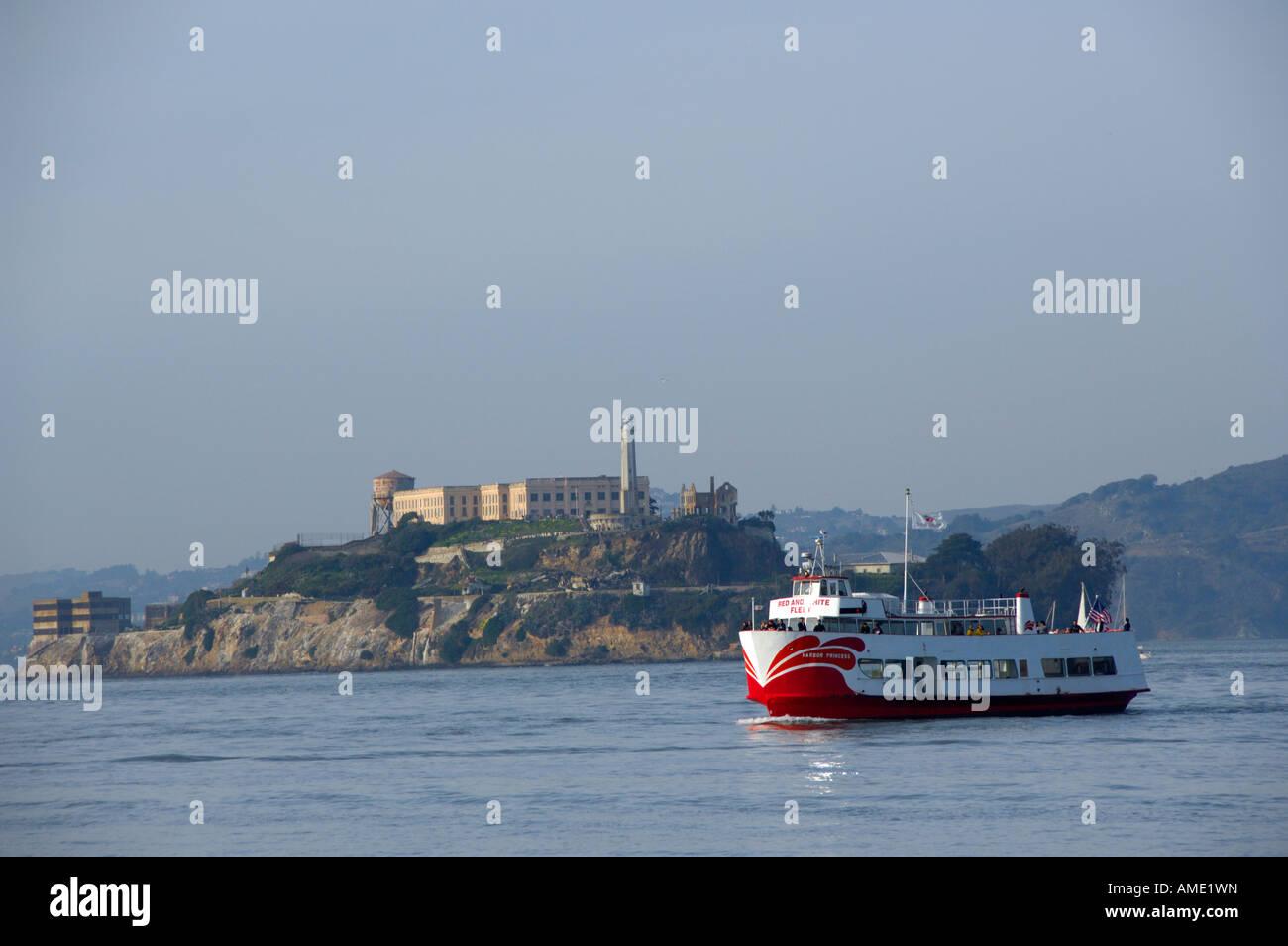 California, San Francisco. Golden Gate National Recreation Area, Alcatraz Island. - Stock Image