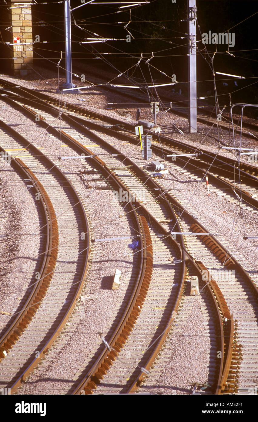 Metro Train line - Stock Image