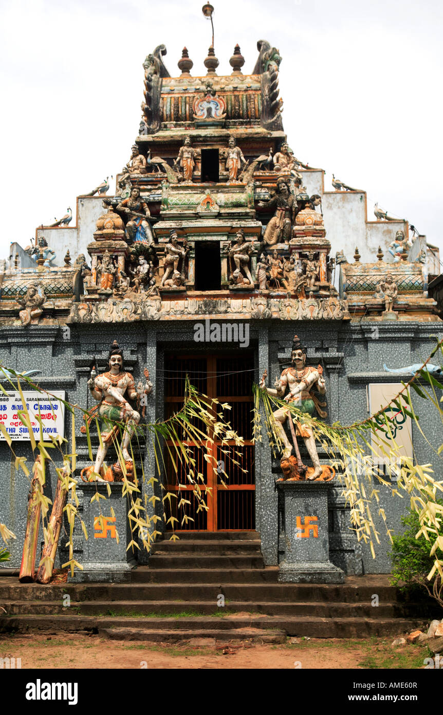 A Hindu Temple Near Galle Sri Lanka Note The Swastikas By The Door