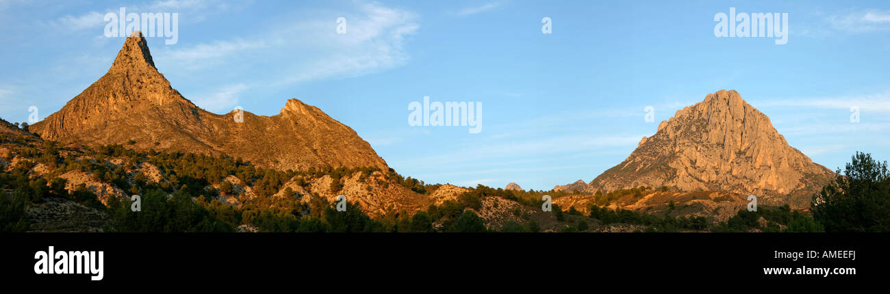 Panoramic view of Puig Campana - Stock Image
