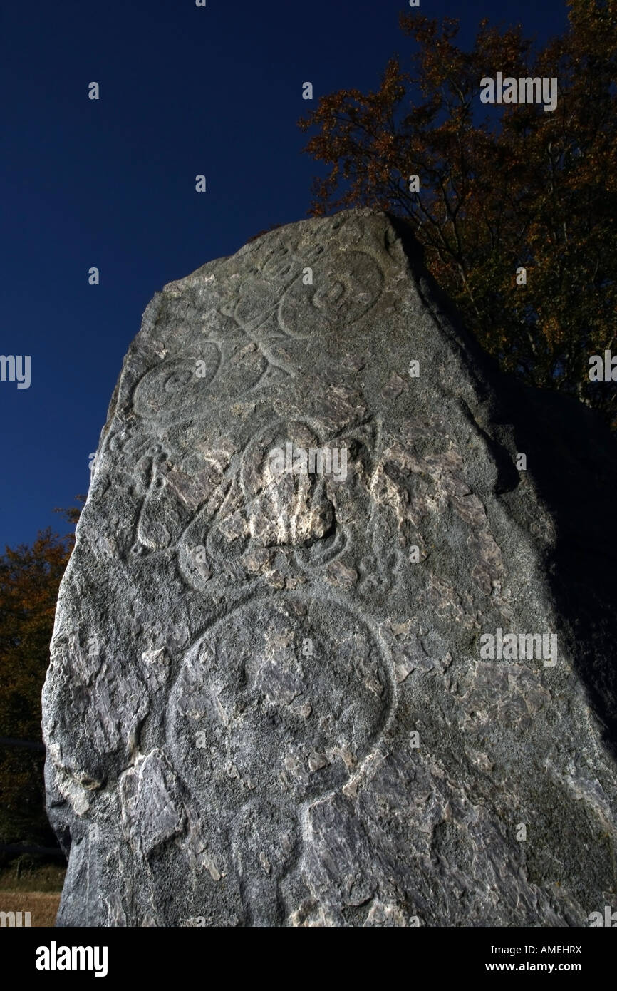 The Picardy Standing Stone near Inverurie, Aberdeenshire, Scotland, UK Stock Photo