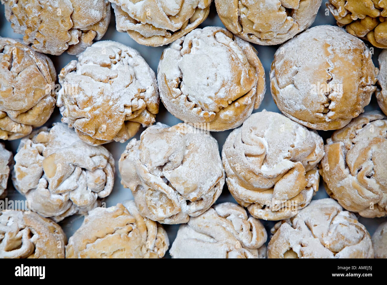 German Christmas Food.Schneeballen Snowball Pastry A Traditional German Christmas