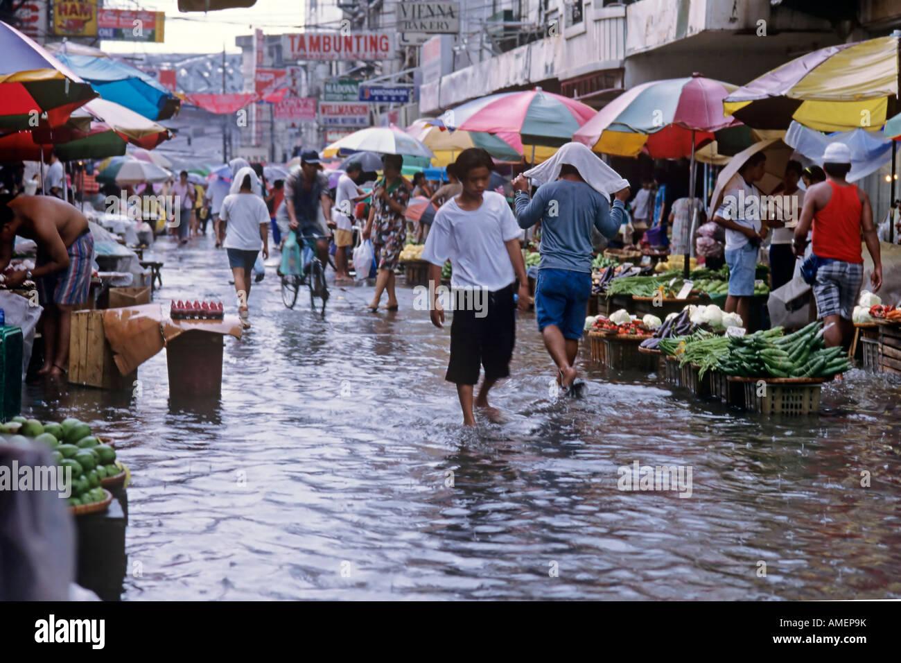 Flood Quiapo Market Manila Philippines Stock Photos Flood Quiapo