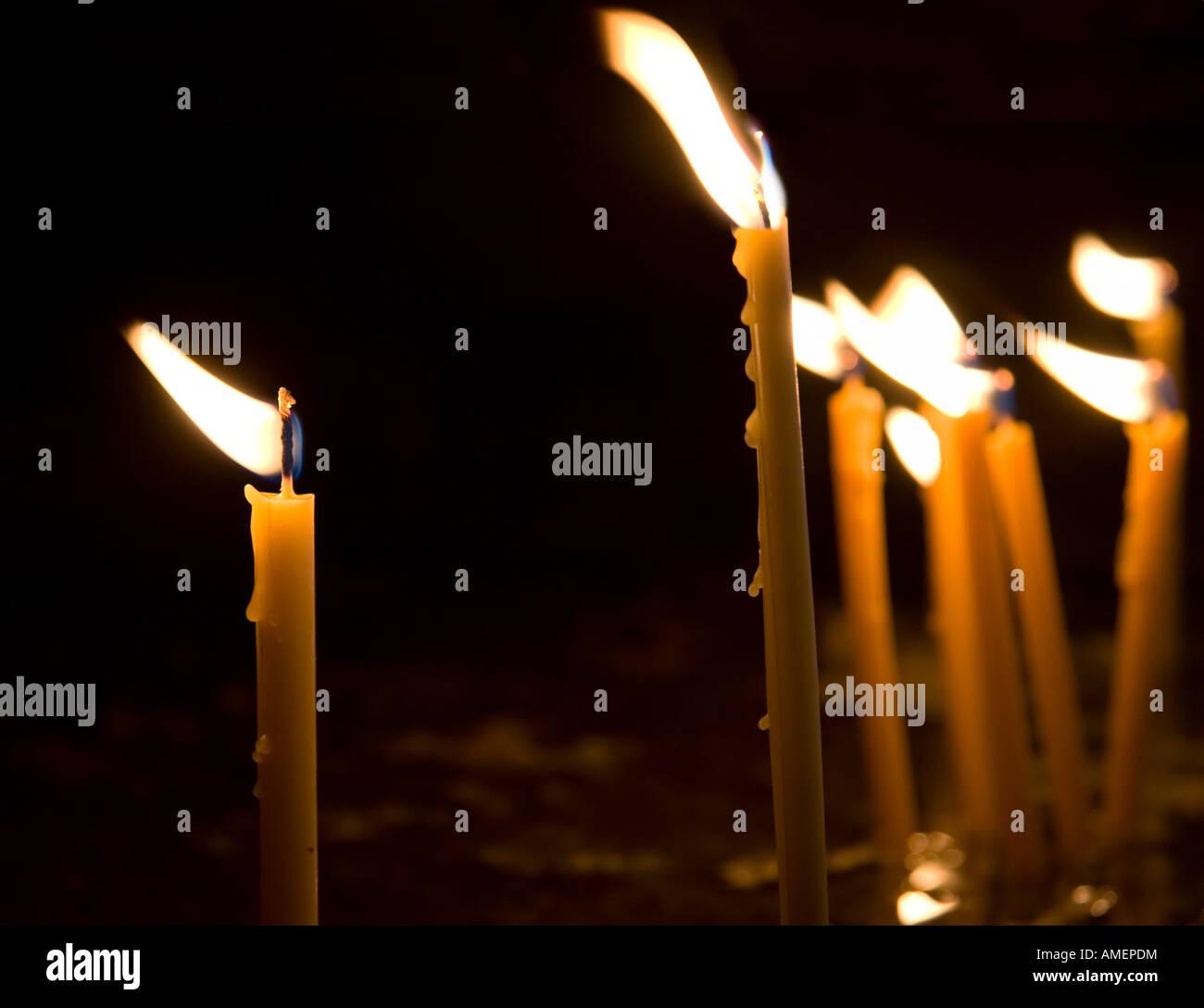 Burning candles - Stock Image