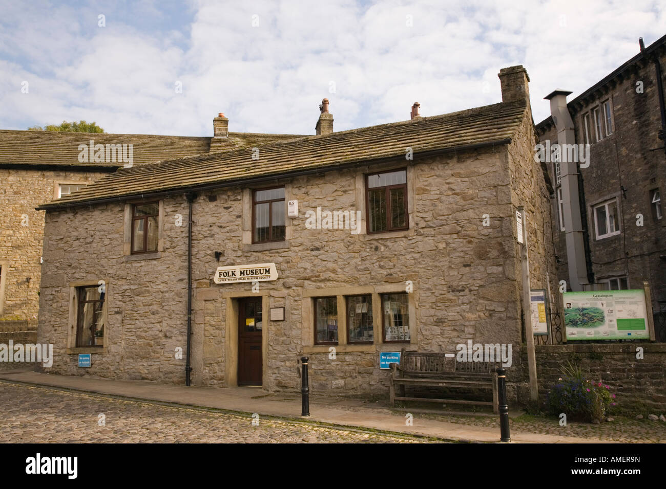 Folk museum in old stone building in village of Grassington North Yorkshire England UK Stock Photo