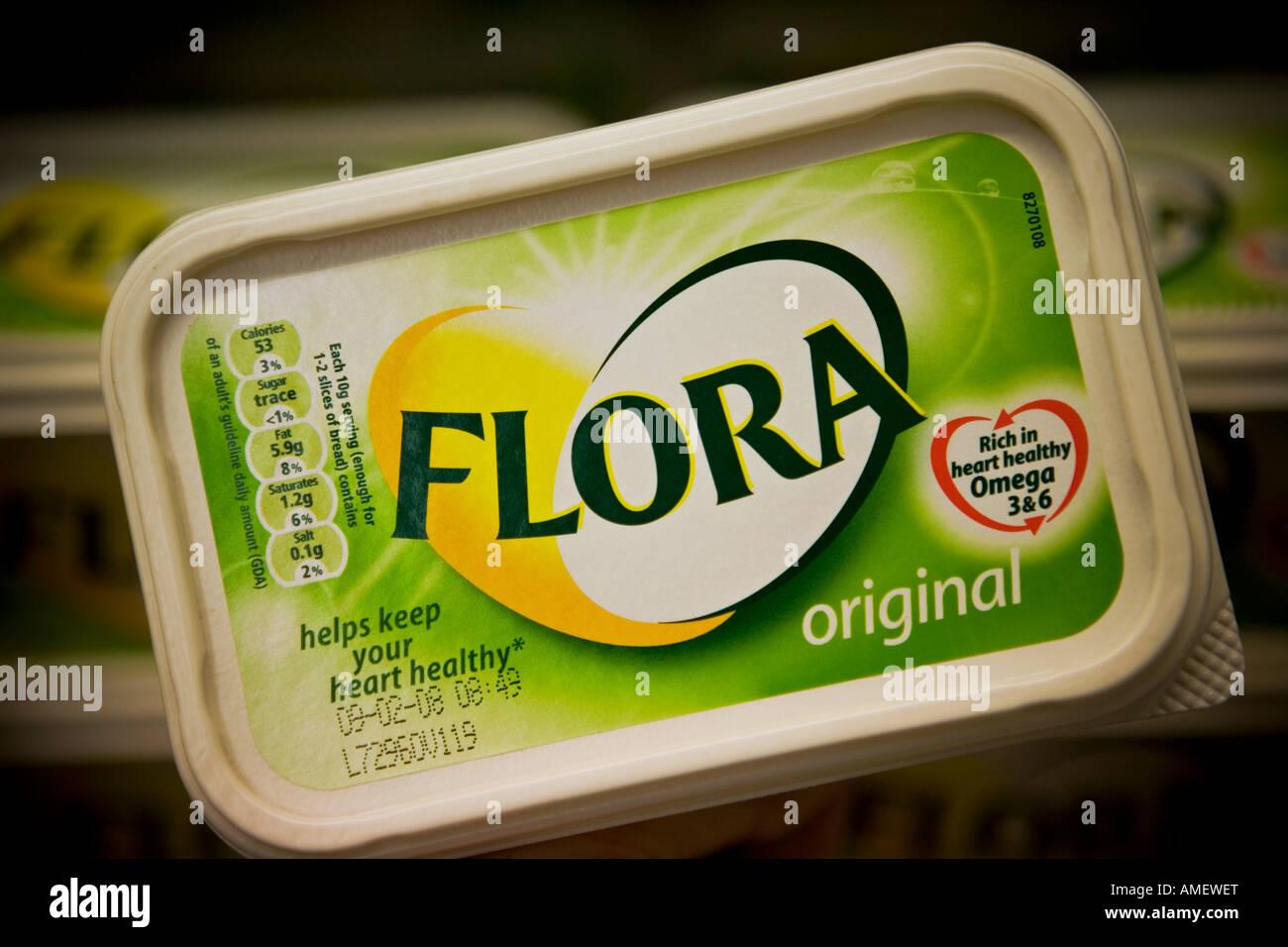 Flora spread Flora is a Unilever brand - Stock Image