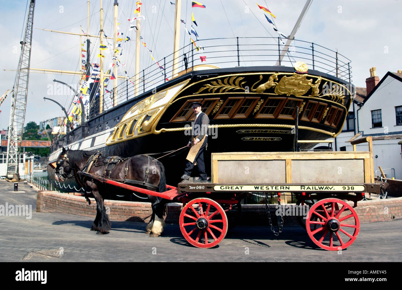 SS Great Britain built by Victorian engineer Isambard Kingdom Brunel pictured in Bristol Docks England UK GB - Stock Image