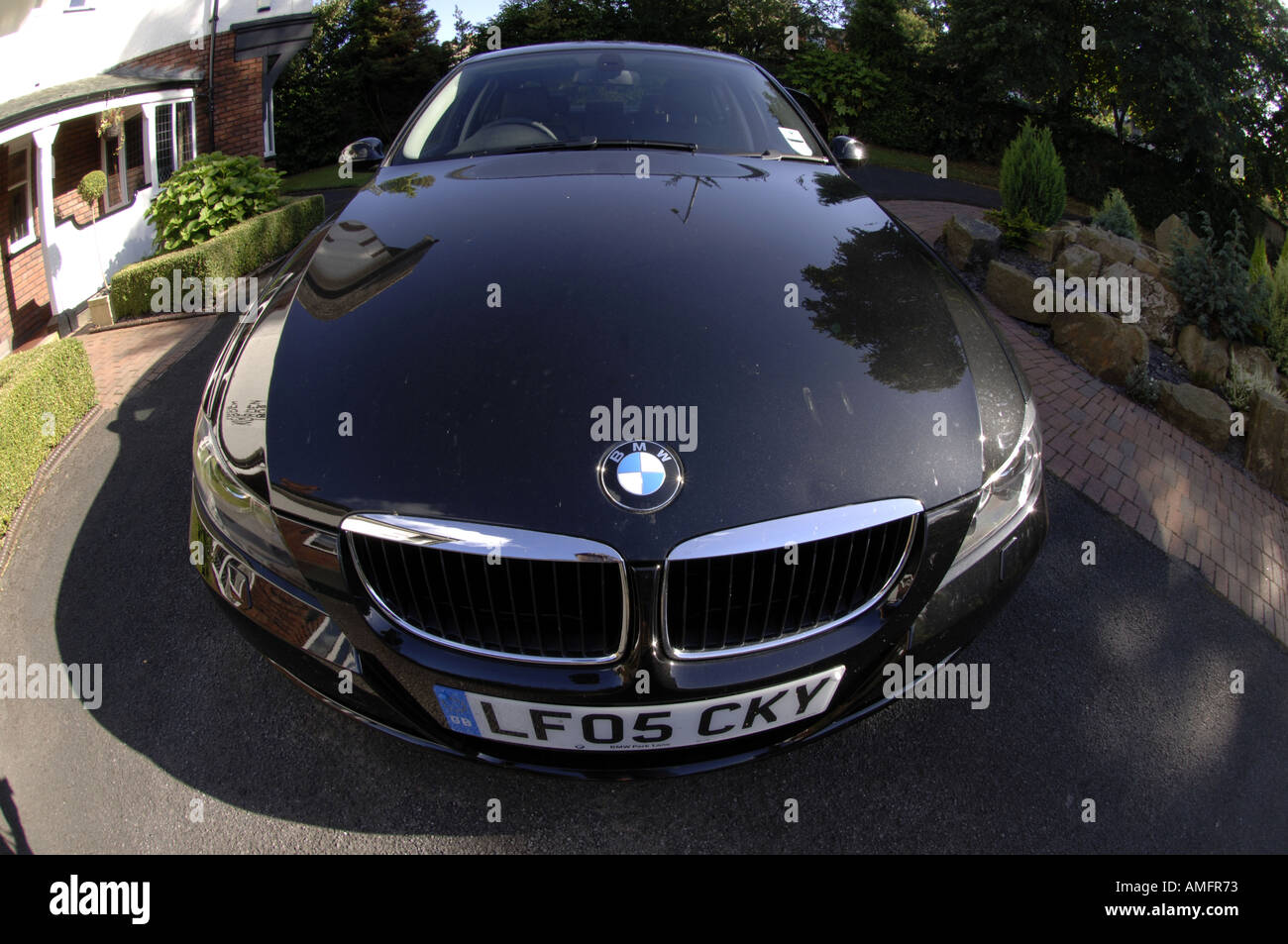 Charming BMW German Deutsch Car Motor Automobile Black New Three Series European  Wideangle Fisheye Lens Horizontal Colour