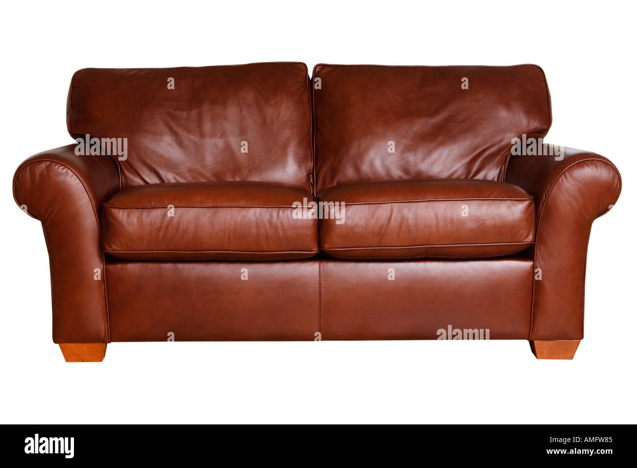 leather couch - Stock Image