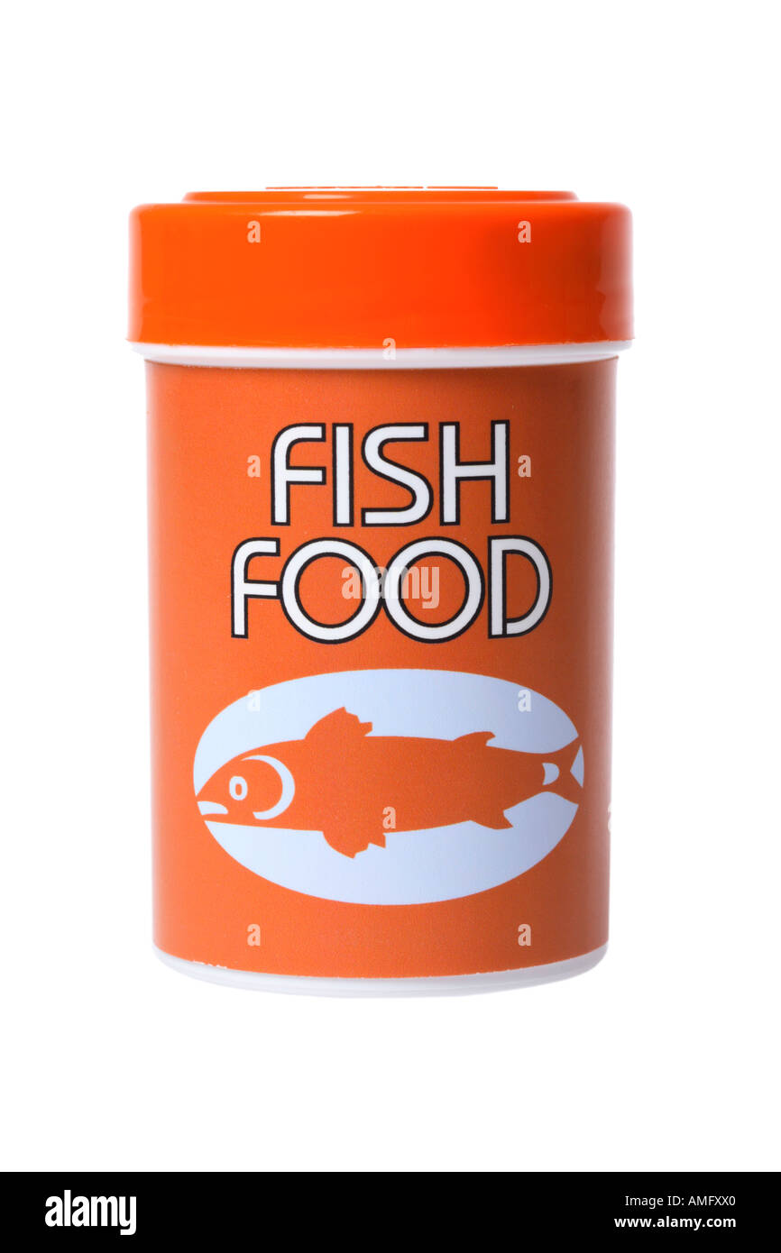 Container of Fish Food - Stock Image