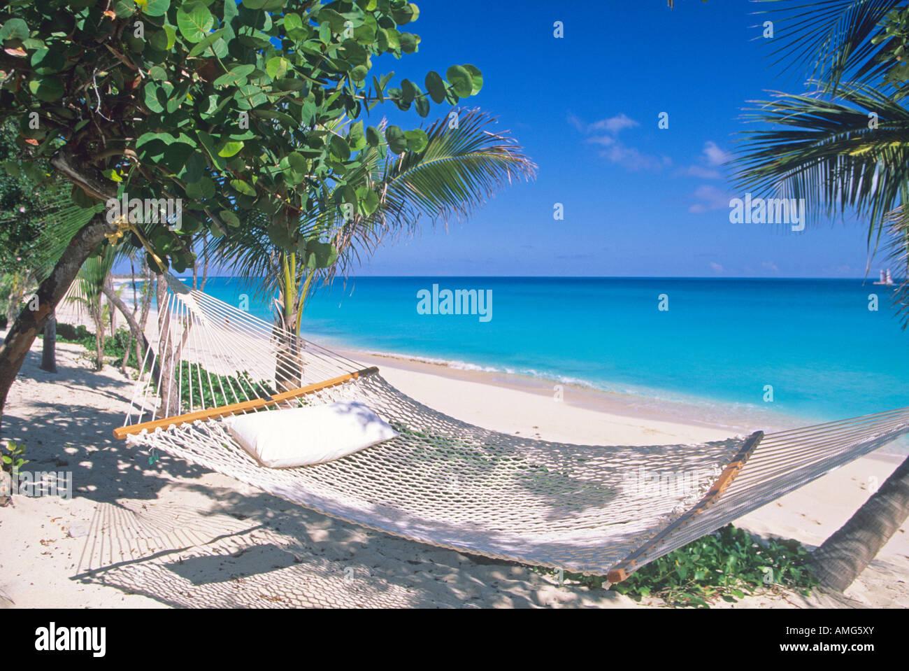 Beach in Saint Martin. Guadeloupe - Stock Image