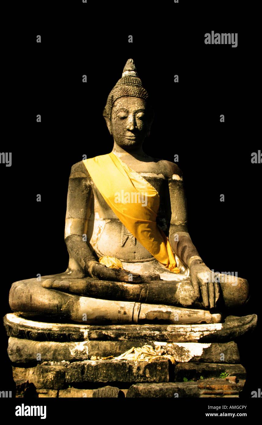 Thailand Kamphaeng Phet  Wat Phra Sit Iriyabot Sukhothai style post classic period - Stock Image