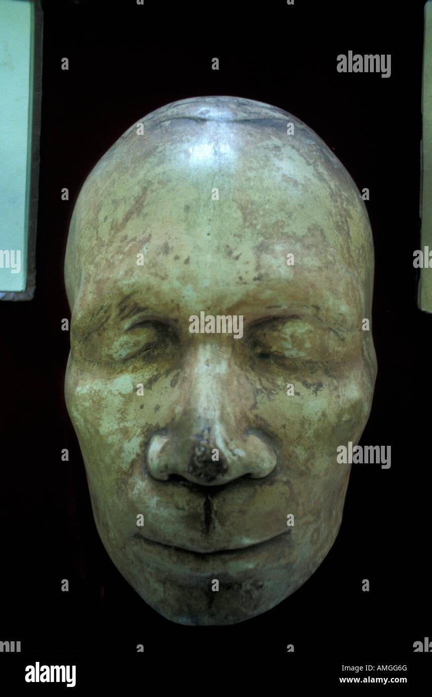 Death mask of Nicaraguan poet Ruben Dario in the National Museum, Managua, Nicaragua - Stock Image