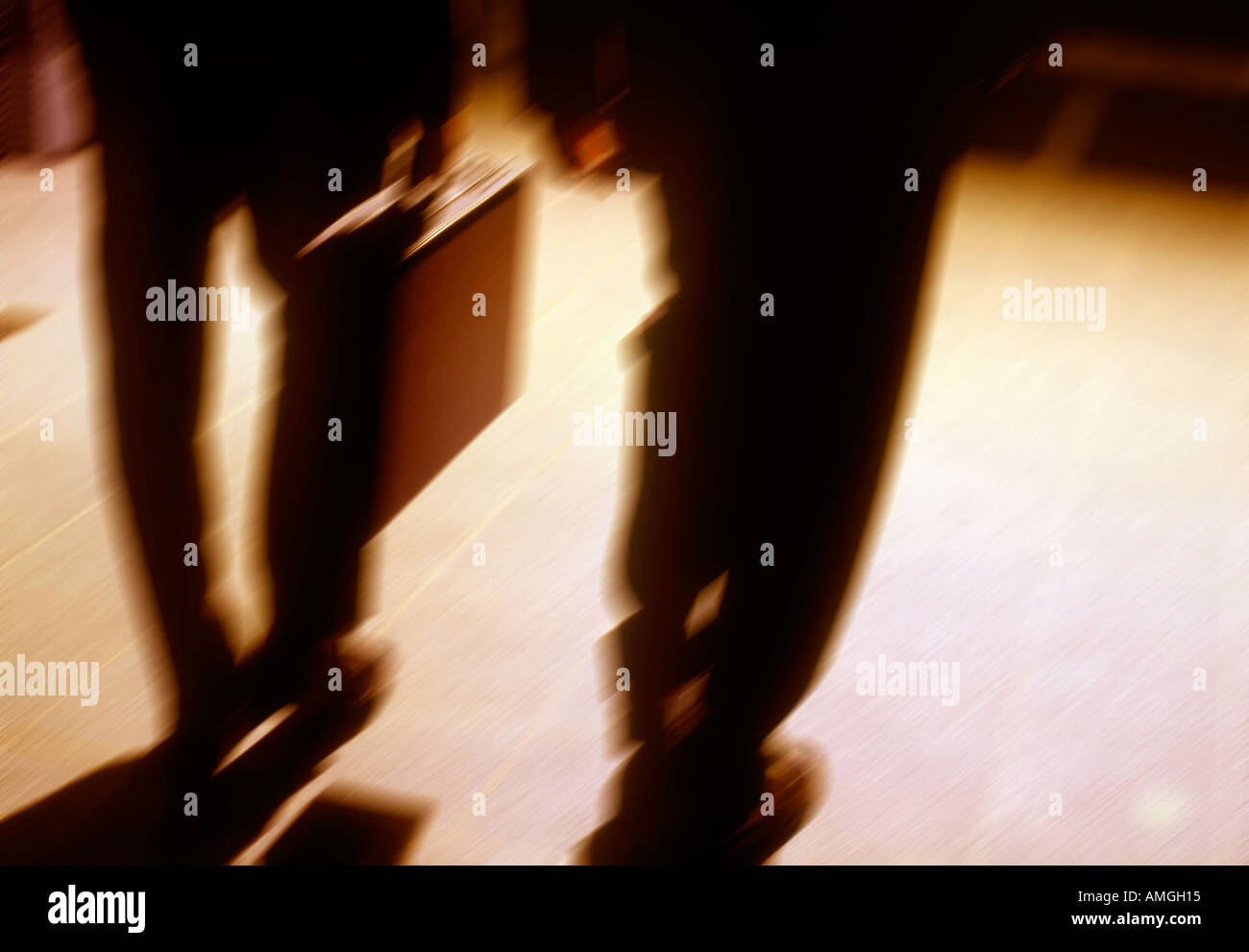 2 Businessmen walking - Stock Image