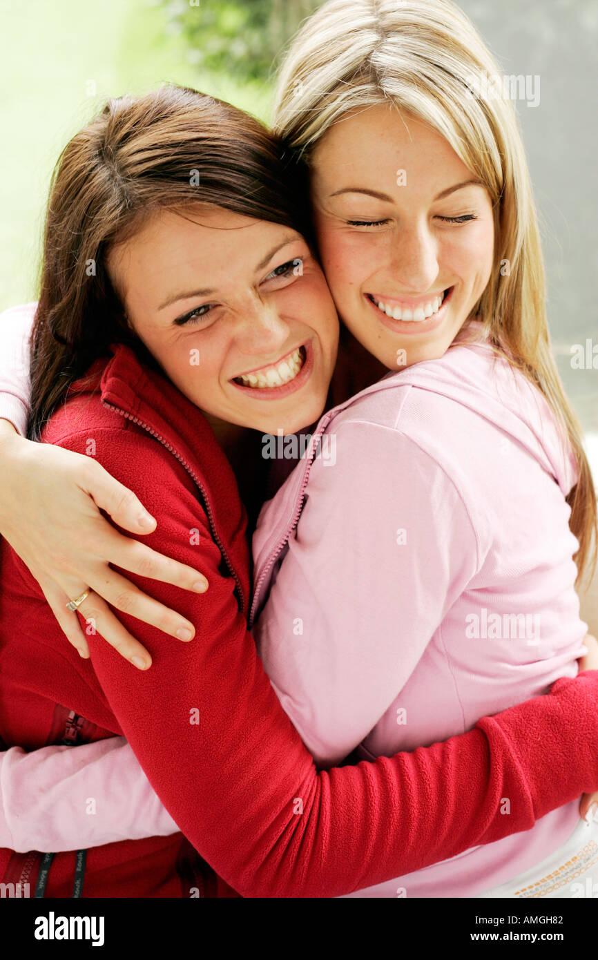 Two Girls Hugging Stock Photo 4981121
