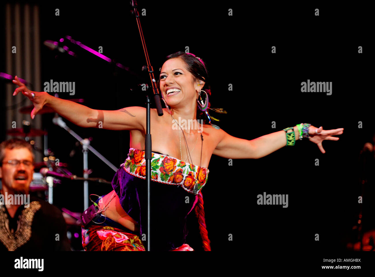 lila downs womad Stock Photo