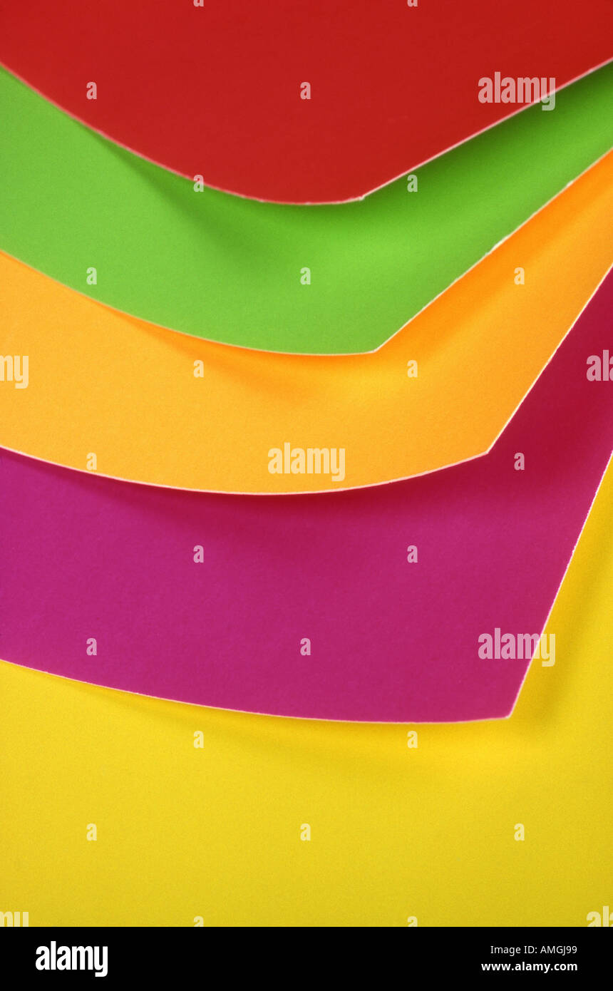 colorful poster boards - Stock Image
