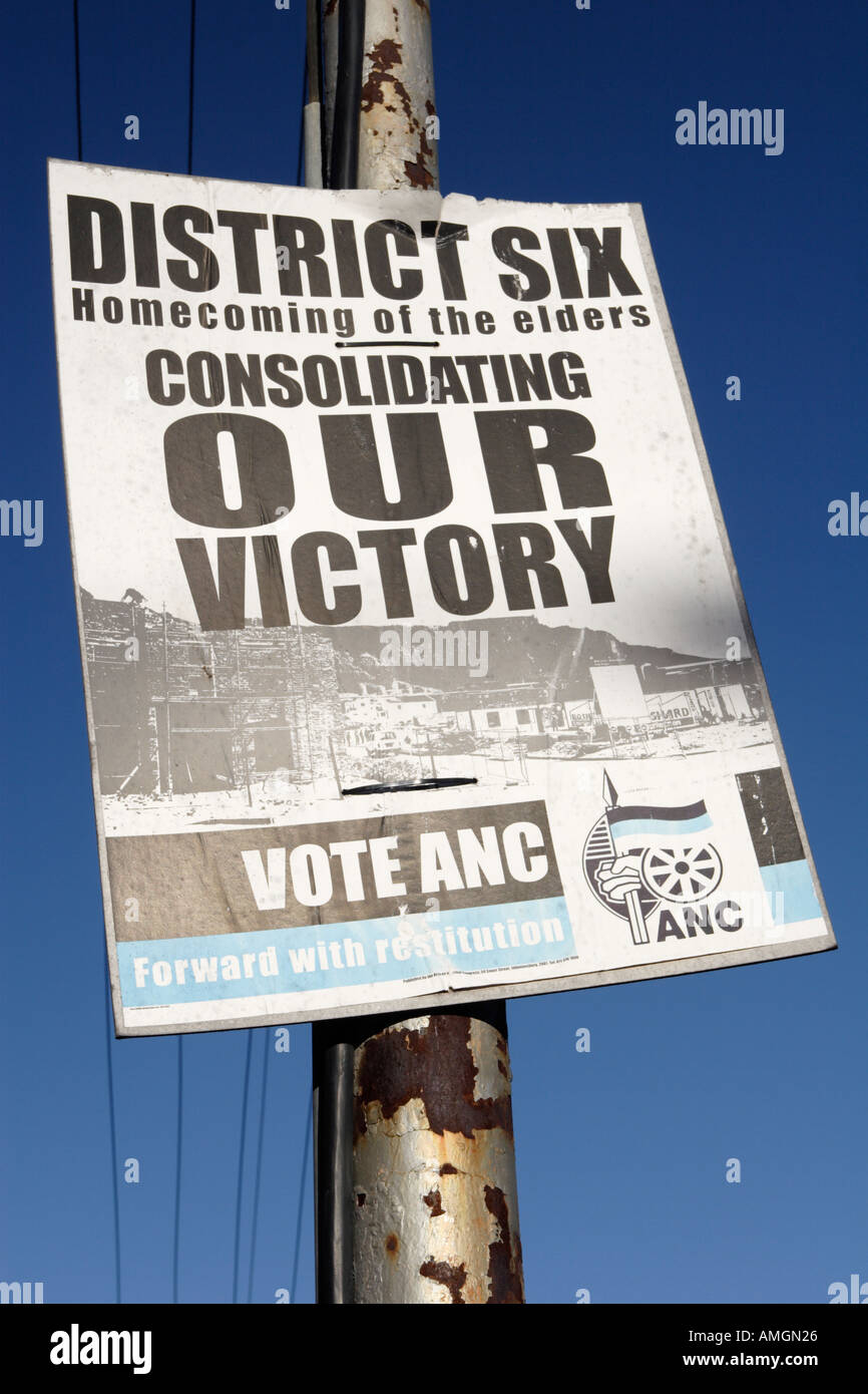 ANC election poster South Africa - Stock Image