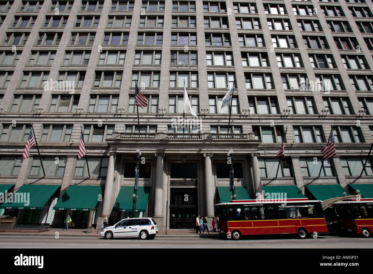 Marshall Fields and Company department store downtown Chicago Illinois USA - Stock Image