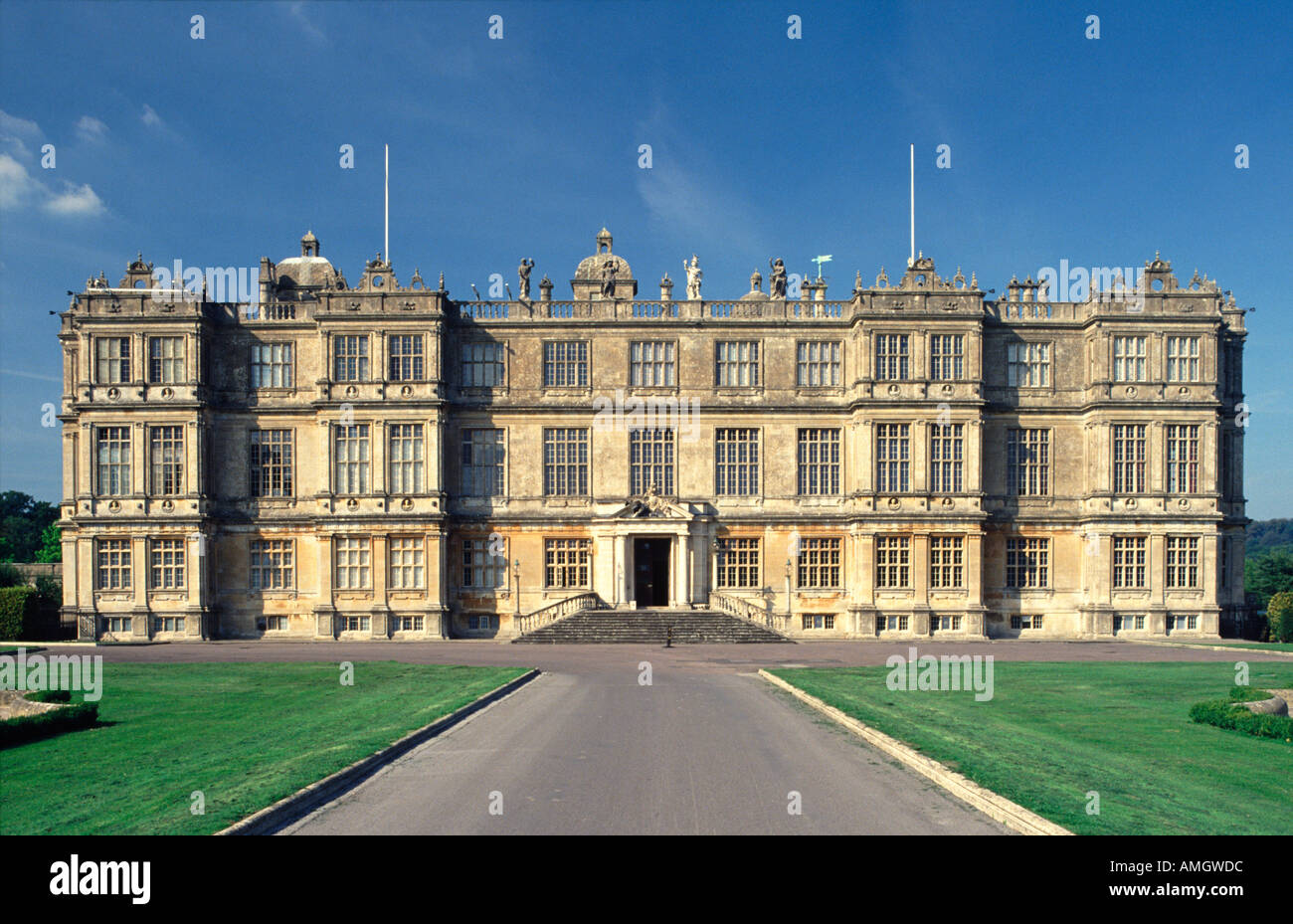 Longleat House Wiltshire England UK Home of the Marquis of Bath - Stock Image