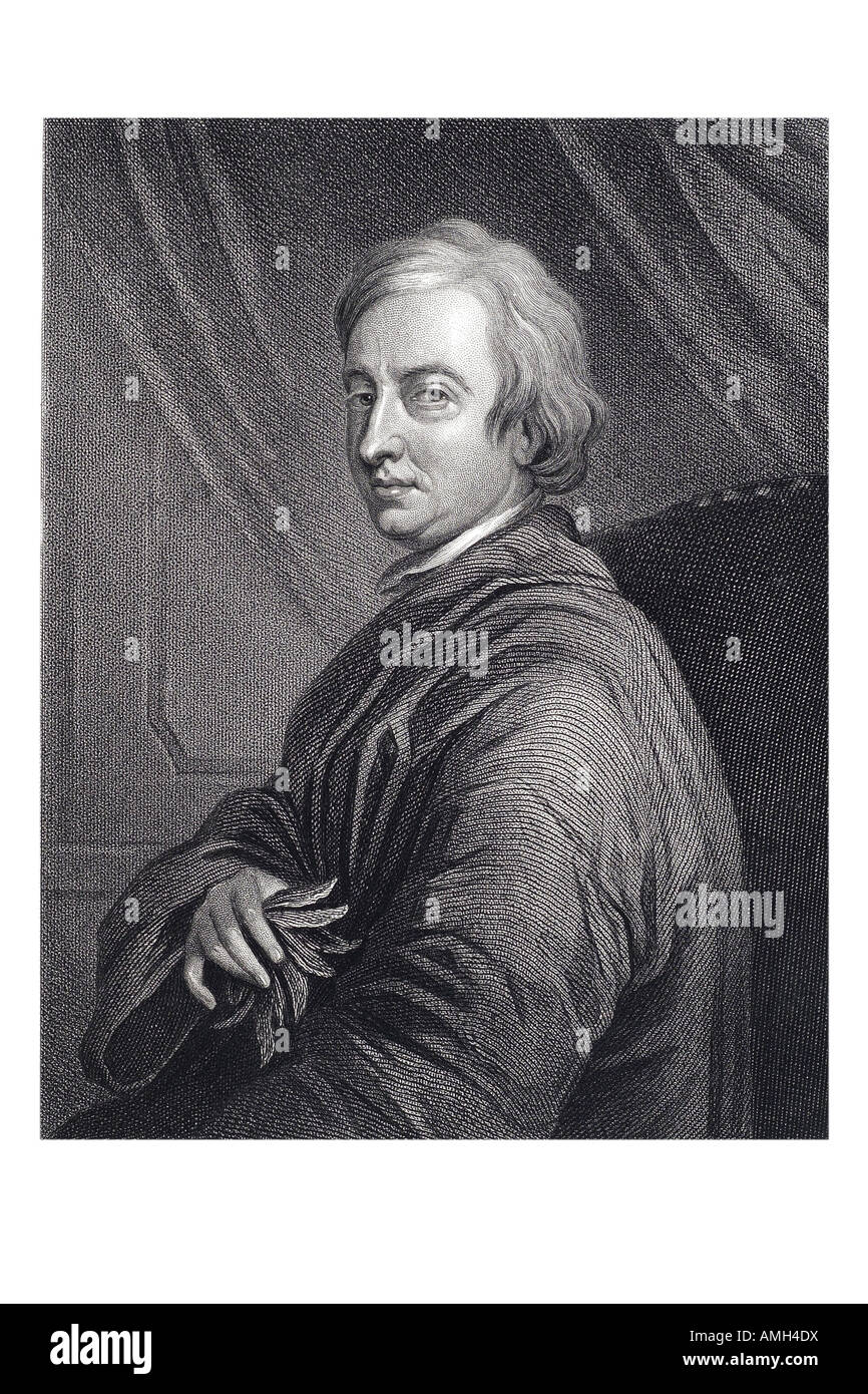 JOHN DRYDEN 1631 1700 English poet dramatist and literary critic Imperial dictionary of universal biography series Stock Photo