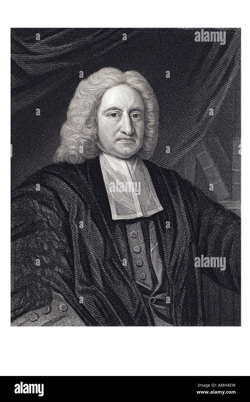 EDMOND HALLEY 1656 1742 English astronomer royal mathematician comet star heaven sky observer Imperial dictionary - Stock Image