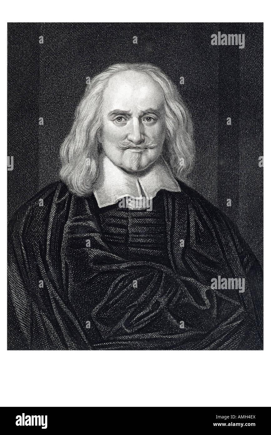 THOMAS HOBBES  English political philosopher 1588 1679 The Leviathan 1651 Western political philosophy geometry - Stock Image
