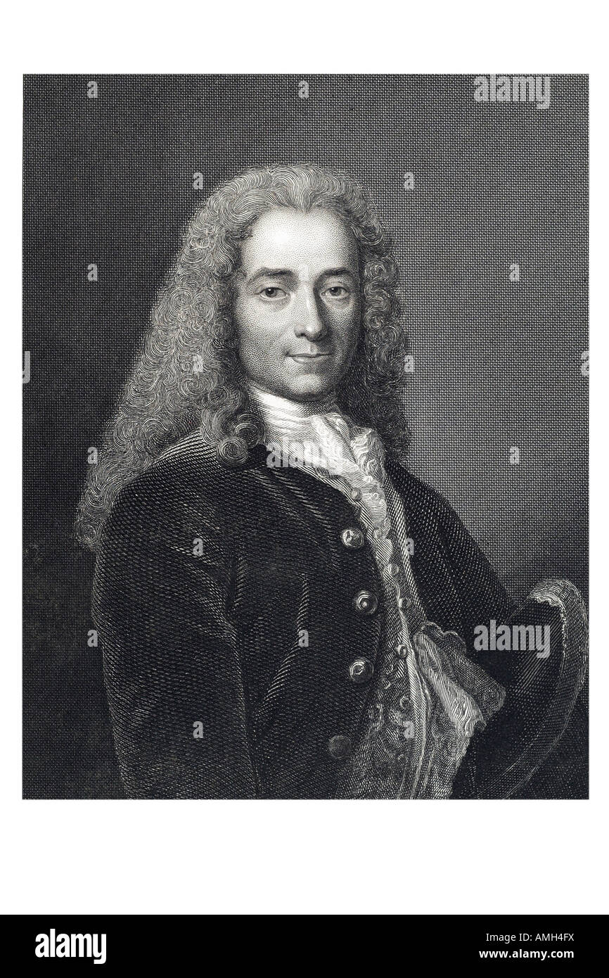 VOLTAIRE French writer historian 1694 1778 penname François Marie Arouet philosopher Imperial dictionary of - Stock Image