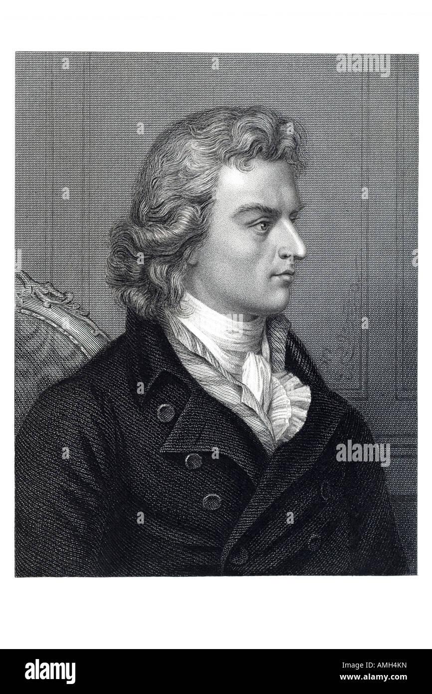 Johann Christoph FRIEDRICH von SCHILLER German dramatist 1759 1805 German poet dramatist philosopher and historian - Stock Image