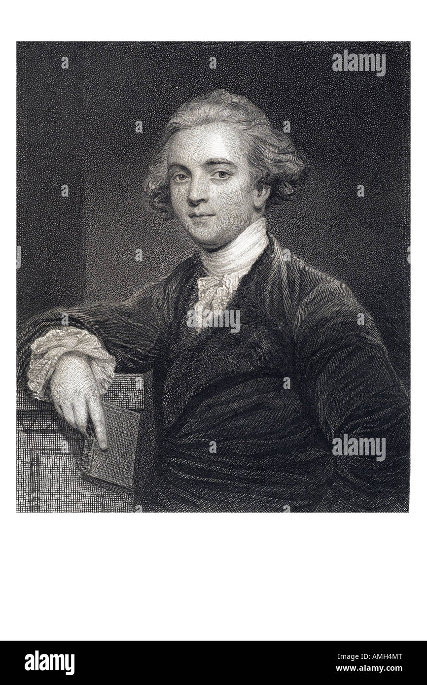 SIR WILLIAM JONES 1746 1794 British jurist philologist studied ancient India proposition existence relationship - Stock Image