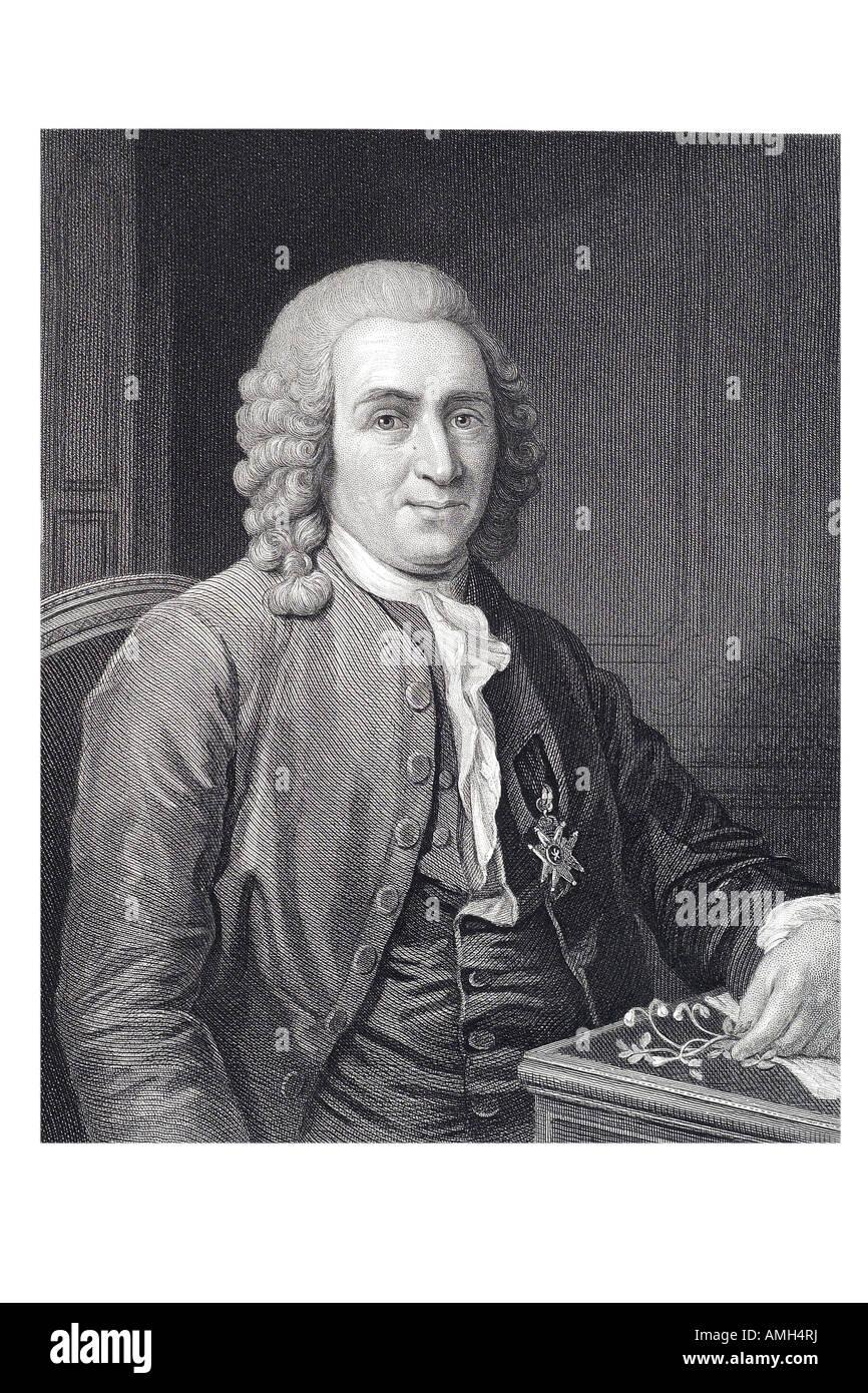 CARL Carolus LINNAEUS von Linné 1707  1778 Swedish Sweden botanist physician zoologist nomenclature modern taxonomy ecology lind Stock Photo