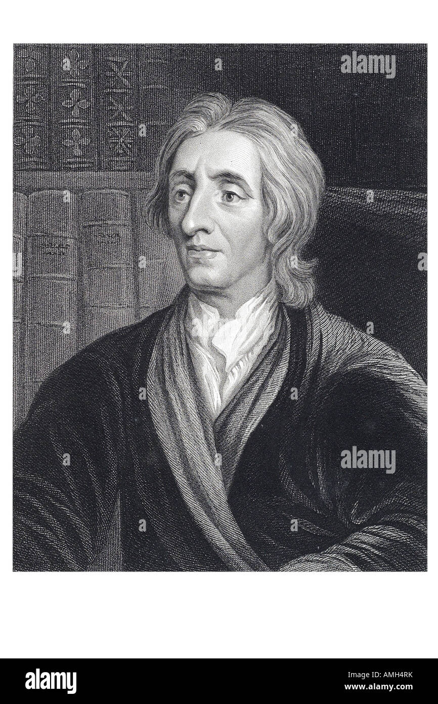 John Locke 1632  1704 English philosopher British Empiricists social contract theory nfluence epistemology political - Stock Image
