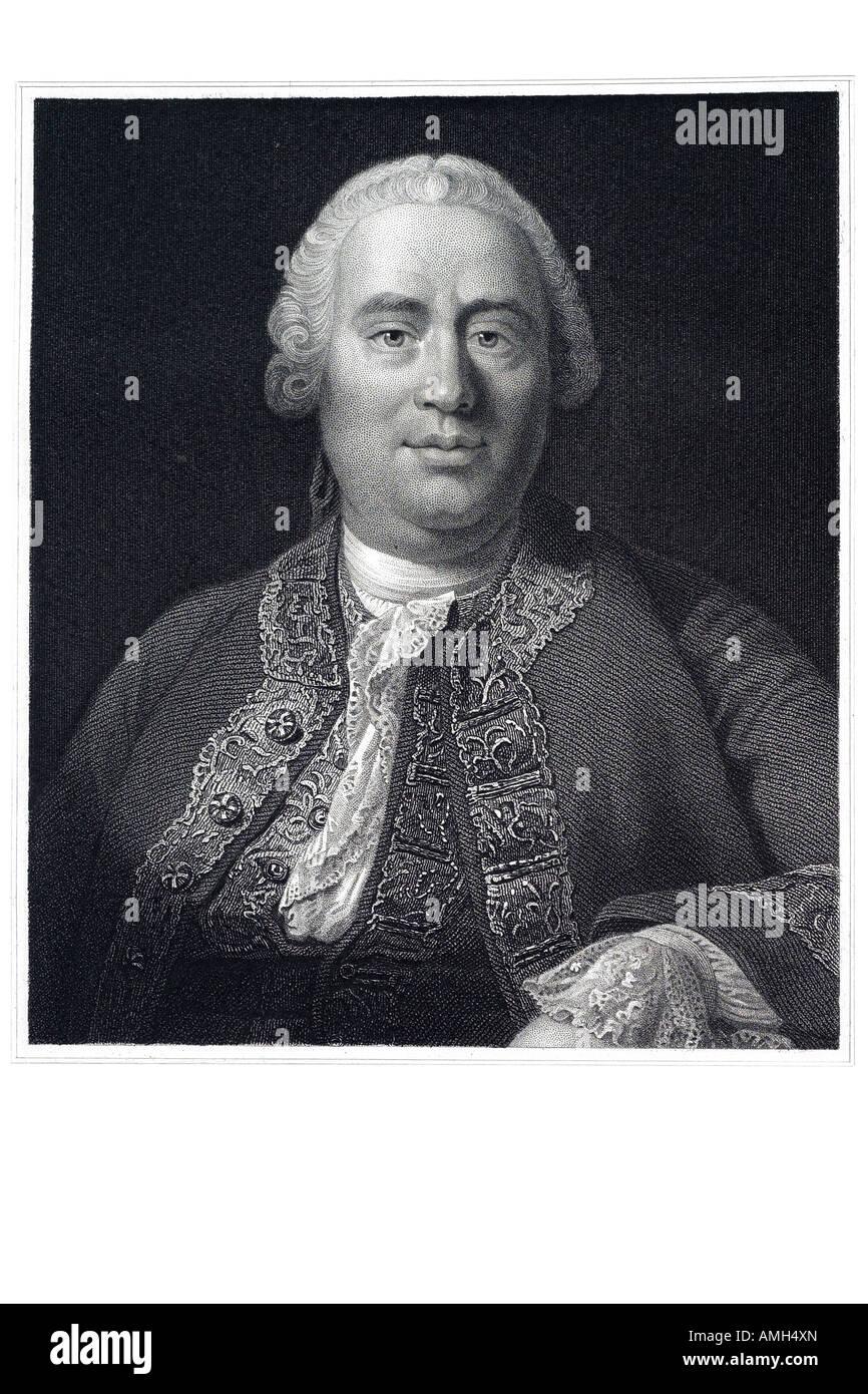 DAVID HUME 1711 1776 Scottish historian philosopher economist Western philosophy Scottish Enlightenment naturalistic - Stock Image