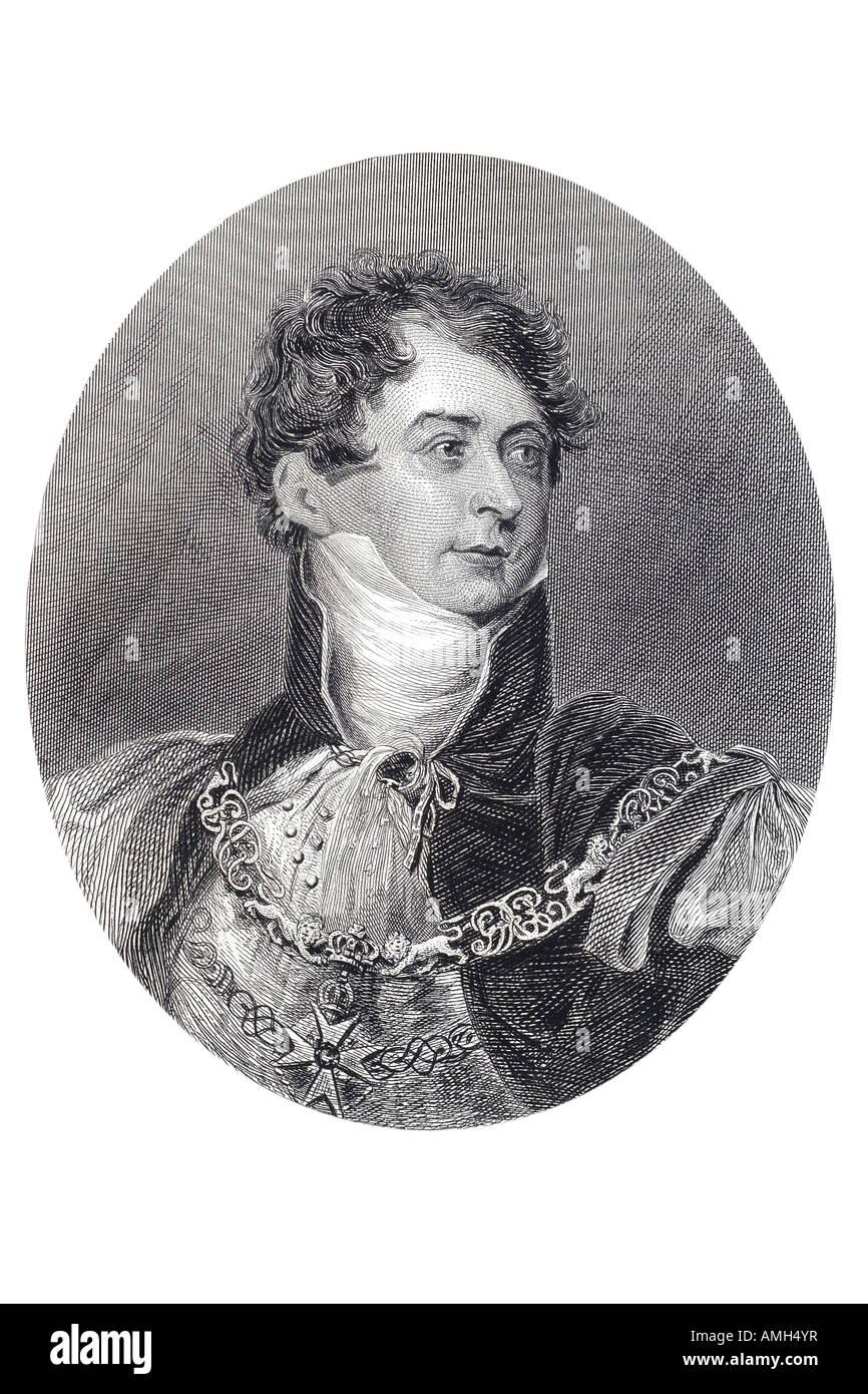 George Augustus Frederick IV King United Kingdom Great Britain Ireland Hanover 1762 1830 ruled Prince Regent Napoleonic - Stock Image