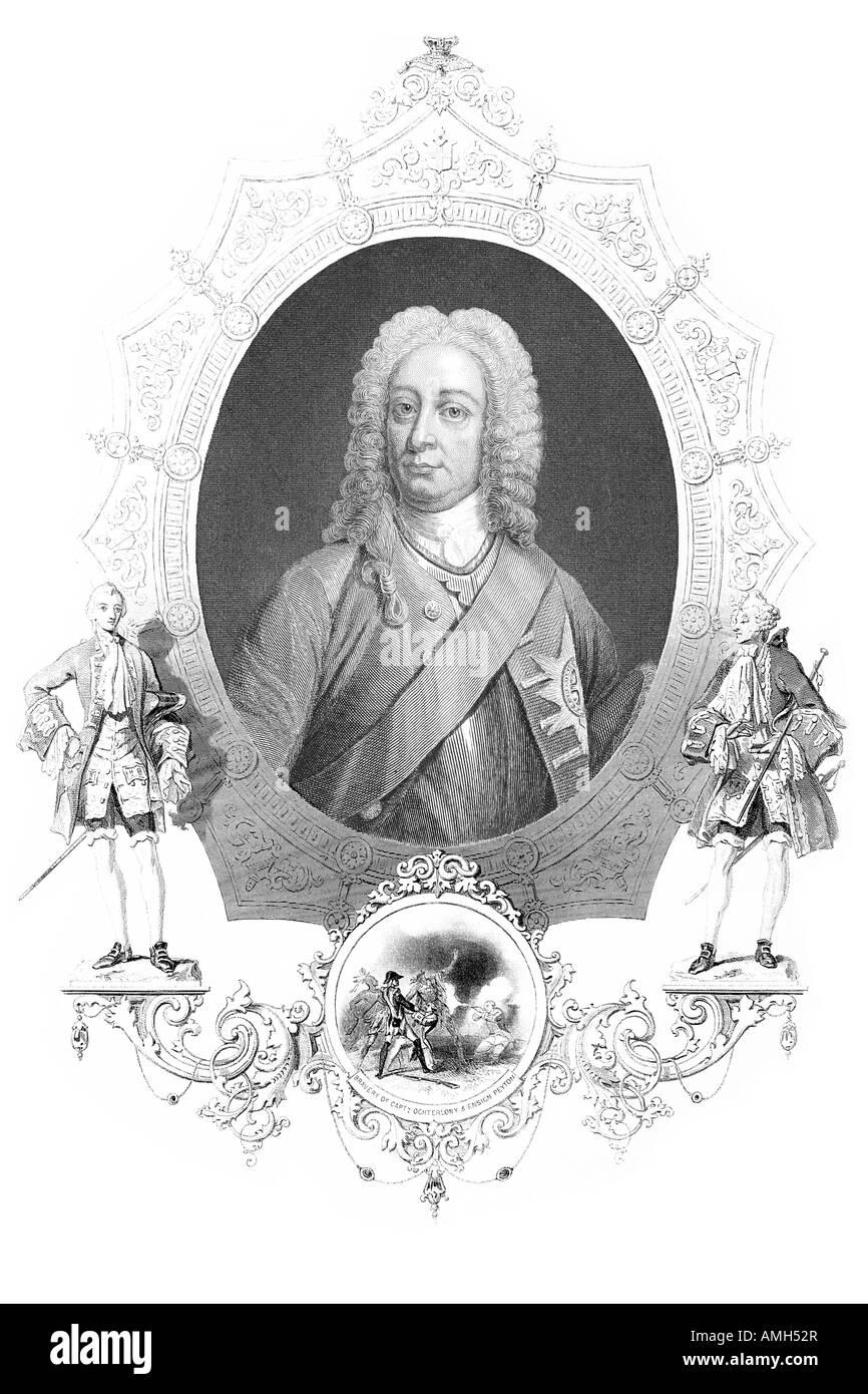 King George Augustus II  2 2nd 1683 1760 Great Britain Ireland Duke Brunswick Lüneburg Hanover Archtreasurer - Stock Image
